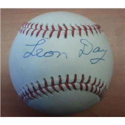 Leon Day Negro League Hall of Famer Signed Baseball