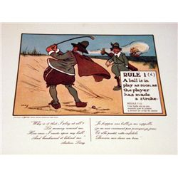 Perrier Golf Rule 1i Lithograph print