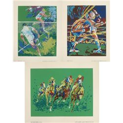 3 Ted Tenabe Sports Art Prints Ali Tennis Horse Racing