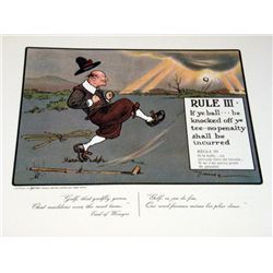 Perrier Golf Rule III Lithograph Print