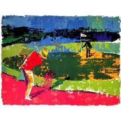 CHIPPING ON Signed LeRoy Neiman Sports Art Golf Print