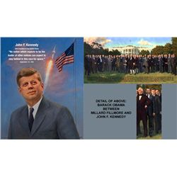 2 U.S. Presidents Art Prints John F Kennedy White House