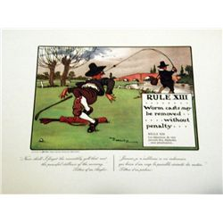 Perrier Golf Rule XIII Lithograph Print