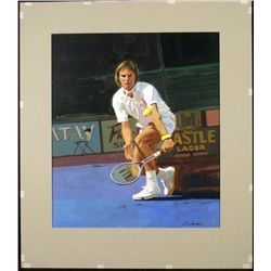 William Chambers Original Tennis Painting Jimmy Connors