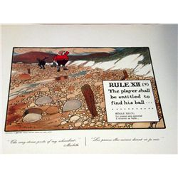 Perrier Golf Rule XII-v Lithograph Print