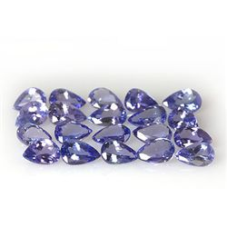 Natural Tanzanite Zoisite Pear Cut 37pcs 15.00 ctw
