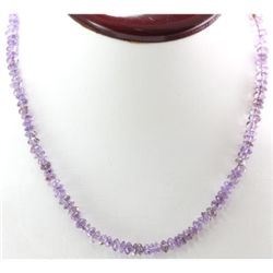 Amethyst beads 99.46 ctw Necklace