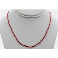 Red Garnet round beads 24.19 ctw Necklace