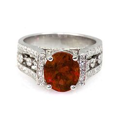 Genuine 3.44 ctw Garnet (Mozambique) Ring 14k