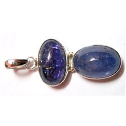 Natural 6.7 g Tanzanite Oval .925 Sterling Pendant