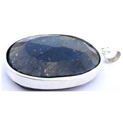 Natural 163.4 ctw Sapphire Oval .925 Sterling Pendant