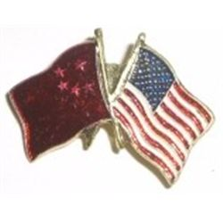 Russian/U.S.A FLAGS Pin!!