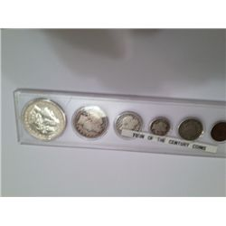 TURN OF THE CENTURY SET COINS INCL 1888 MORGAN, 1912 BARBER