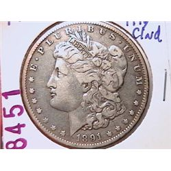 1891-O Morgan Dollar F12