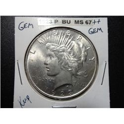 1923 SILVER PEACE DOLLAR, MS-67