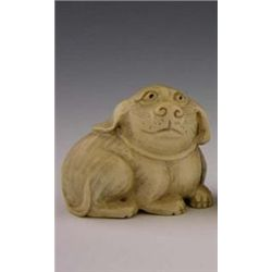 Bizarre Signed Carved Ivory Netsuke early 20th c of a