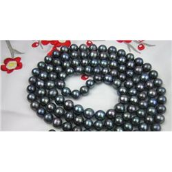 40in natural 8-9mm black pearl necklace mwf2013