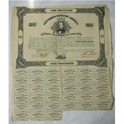 MWF912B Confederate $1000 war bond dated August 19th 18