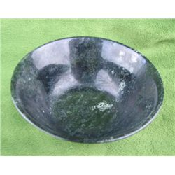 Tibetan Natural Jade Carved Bowl