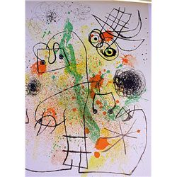Stunning Signed Original Lithograph by Artist Joan Miro