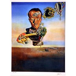 Salvador Dali Signed Limited Edition - Portrait of Paul Eluard