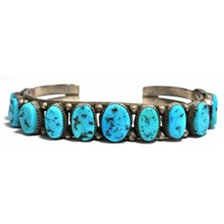 Old Pawn Turquoise Sterling Silver Cuff Bracelet - S9? King