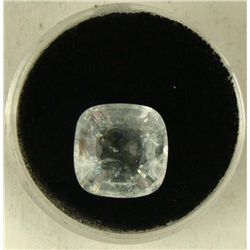 6.40 CT AQUAMARINE LT BLUE CUSHION GEMSTONE
