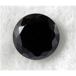 7.0 ct Natural Zircon Gemstone Round Shaped Black
