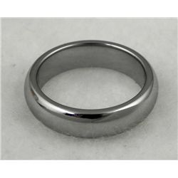 TUNGSTEN MANS RING W/ ROUNDED EDGE