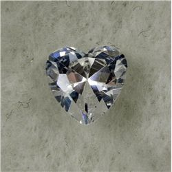 6.0 ct Natural Zircon Gemstone Heart Shaped White