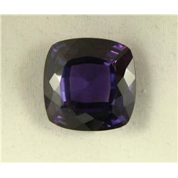 31.89 CT PINK PURPLE ALEXANDRITE CUSHION GEMSTONE