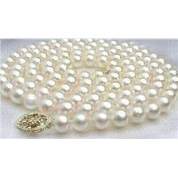 Gorgeous 24 inch 7-8mm Akoya Pearl Necklace