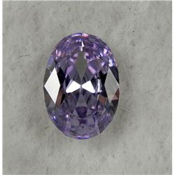 8.0 ct Natural Zircon Gemstone Oval Shaped Light Purple