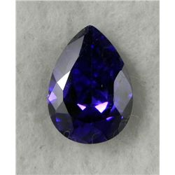 9.0 ct Natural Zircon Gemstone, Pear Shaped Dark Purple