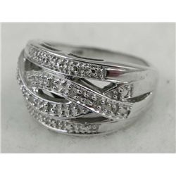STERLING RING WITH WOVEN DESIGN