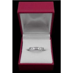 14K WHITE GOLD DE BEERS .66 DIAMOND RING