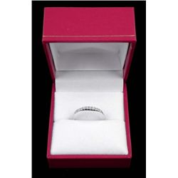 14K WHITE GOLD DE BEERS DIAMOND RING .28 CTW