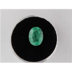 2.69 Carat Bright Glowing Green Emerald Gemstone