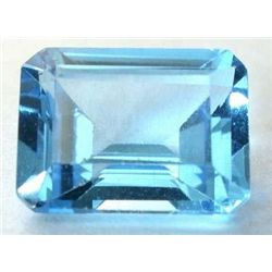 IMMACULATE 9.80 Carat VVS EMERALD CUT BLUE TOPAZ GEMSTO