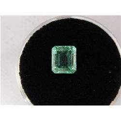 1.28 Carat Bright Glowing Green Emerald Gemstone