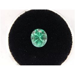 1.26 Carat Bright Glowing Green Gemstone