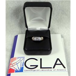 .50 Carat Diamond 14K White Gold Ring GLA Appraisal