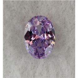 9.5 ct Natural Zircon Gemstone Oval Shaped Light Purple