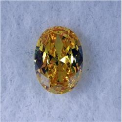 9.5 ct Natural Zircon Gemstone, Oval Shaped Yellow
