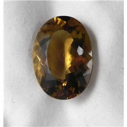 Natural Citrine Oval Cut Gemstone