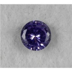 8.0 ct Natural Zircon Gemstone, Round Shaped Lt Purple