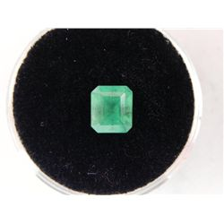 1.46 Carat Bright Glowing Green Emerald Gemstone