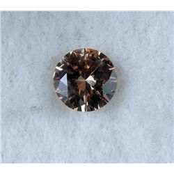 6.5 ct Natural Zircon Gemstone, Round Shaped Champagne