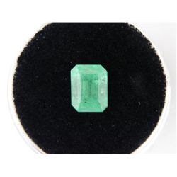 1.41 Carat Bright Glowing Green Emerald Gemstone