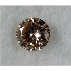 6.5 ct Natural Zircon Gemstone, Round Champagne
